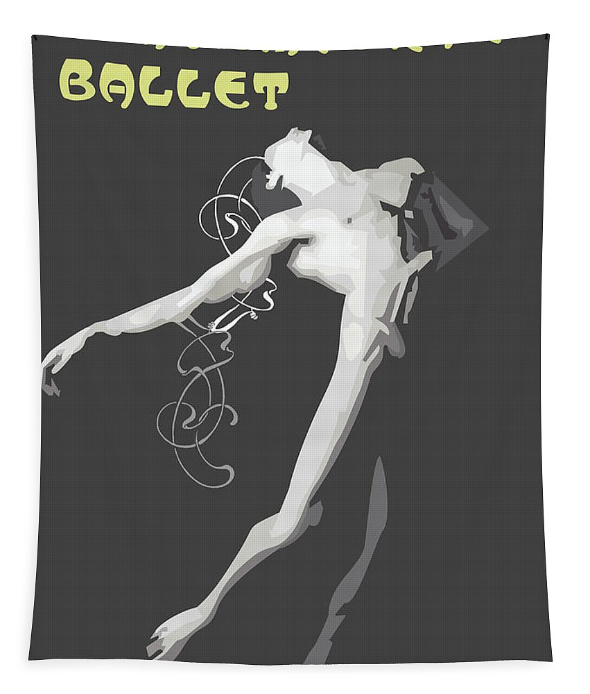 Dancer Tapestry featuring the digital art Contemporary Ballet by Quim Abella