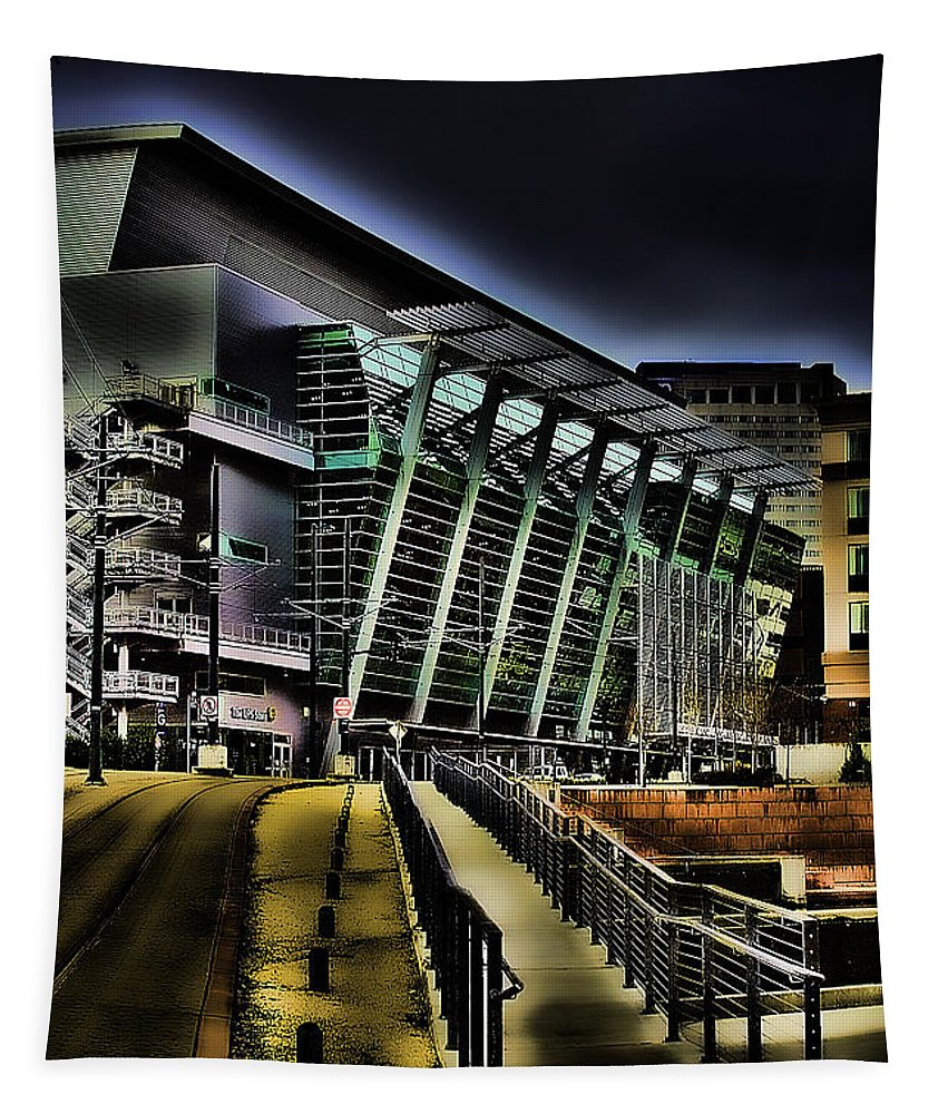 Tacoma Transit Tapestry featuring the photograph Convention Center Station by David Patterson