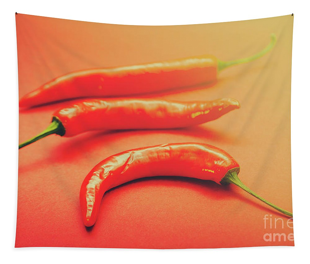 Chili Tapestry featuring the photograph Cooking Pepper Ingredient by Jorgo Photography - Wall Art Gallery