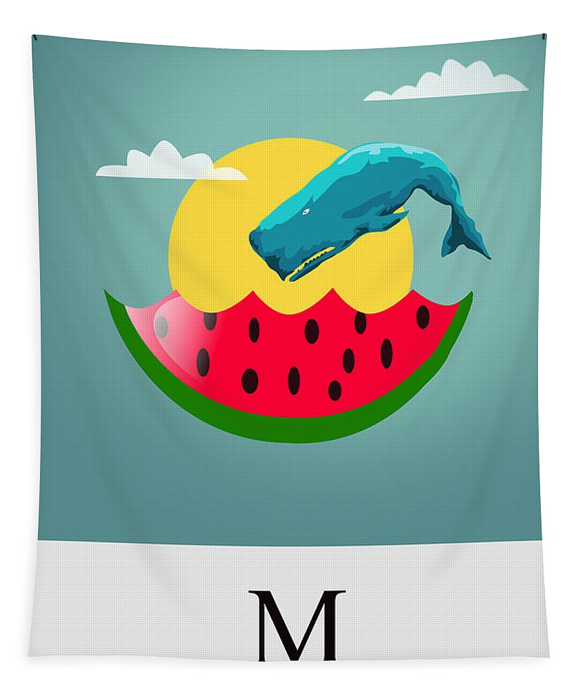 Watermelon Tapestry featuring the painting Cool by Mark Ashkenazi