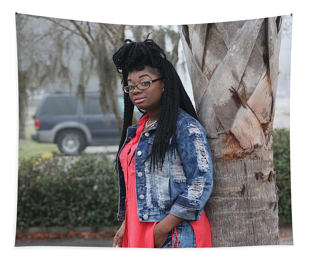 Glasses Tapestry featuring the photograph Cool With Braids 5 by Christopher White