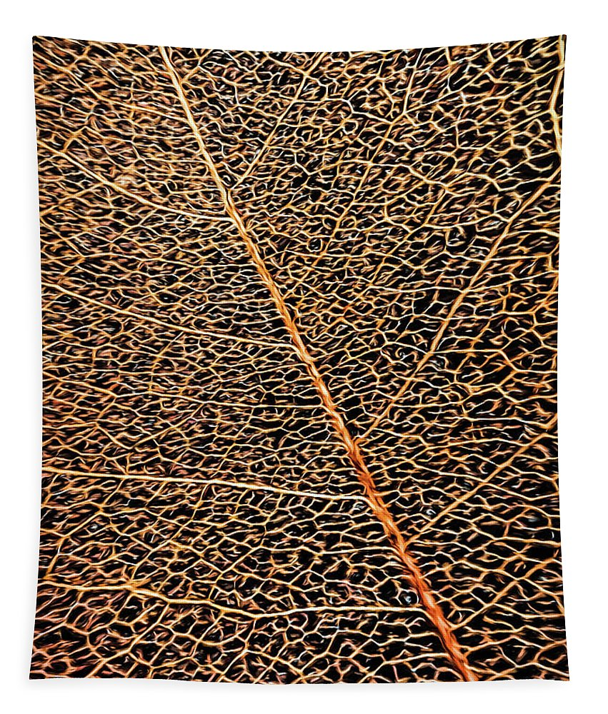 Copper Tapestry featuring the photograph Copper Leaf by Jean OKeeffe Macro Abundance Art
