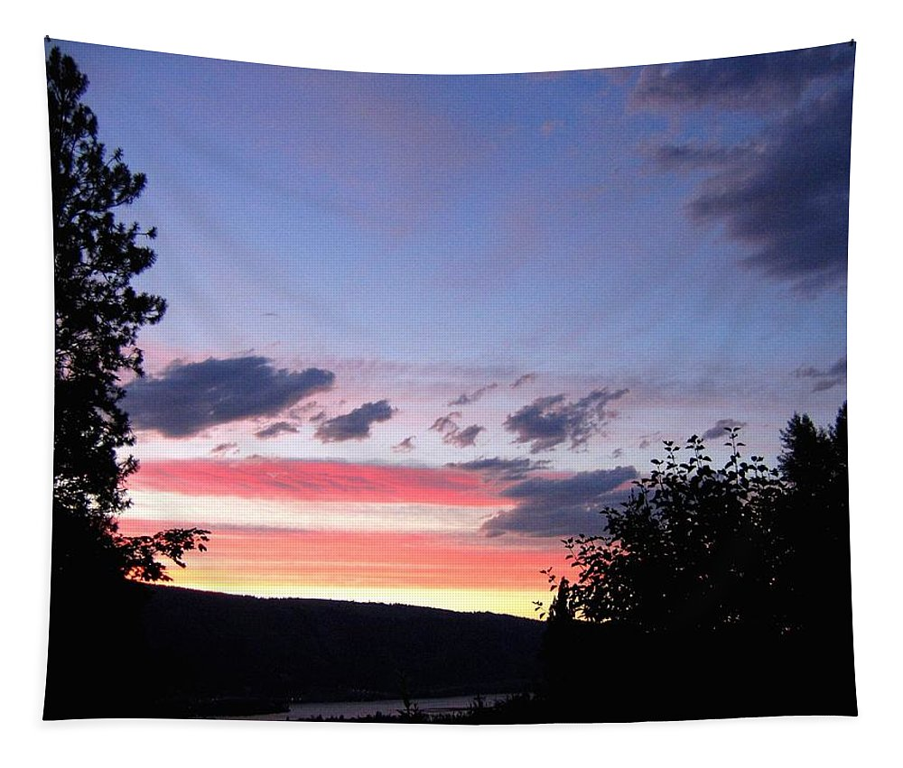 Sunset Tapestry featuring the photograph Coral Sunset by Will Borden