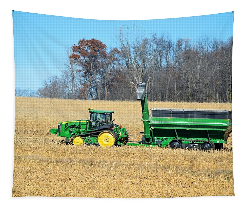 Harvest Tapestry featuring the photograph Corn Harvest by Bonfire Photography