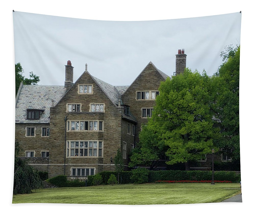Cornell University Tapestry featuring the photograph Cornell University Ithaca New York 11 by Thomas Woolworth
