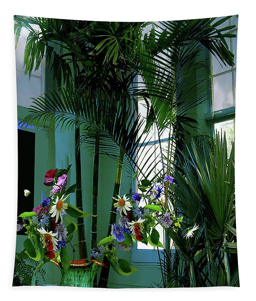 Corner Office Tapestry featuring the photograph Corner Office, Key West, Fl by Thomas Pollart