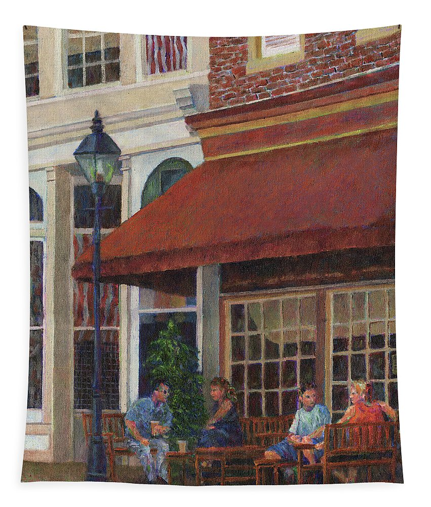 Restaurant Tapestry featuring the photograph Corner Restaurant by Susan Savad