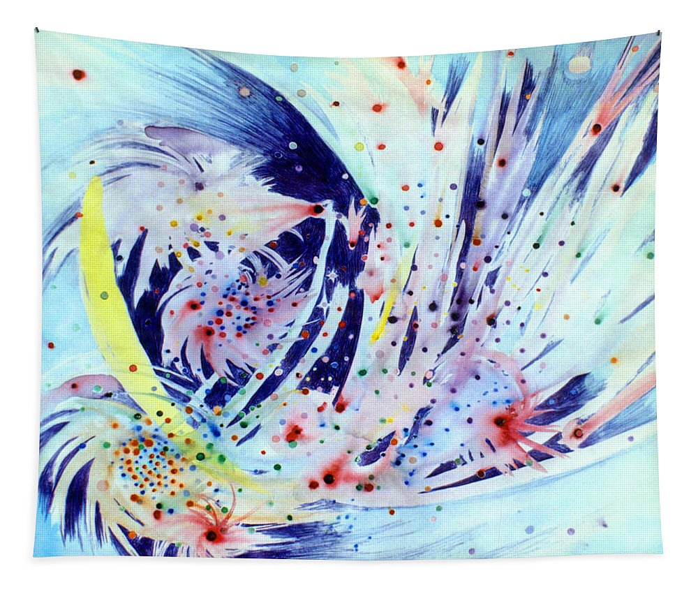 Abstract Tapestry featuring the painting Cosmic Candy by Steve Karol