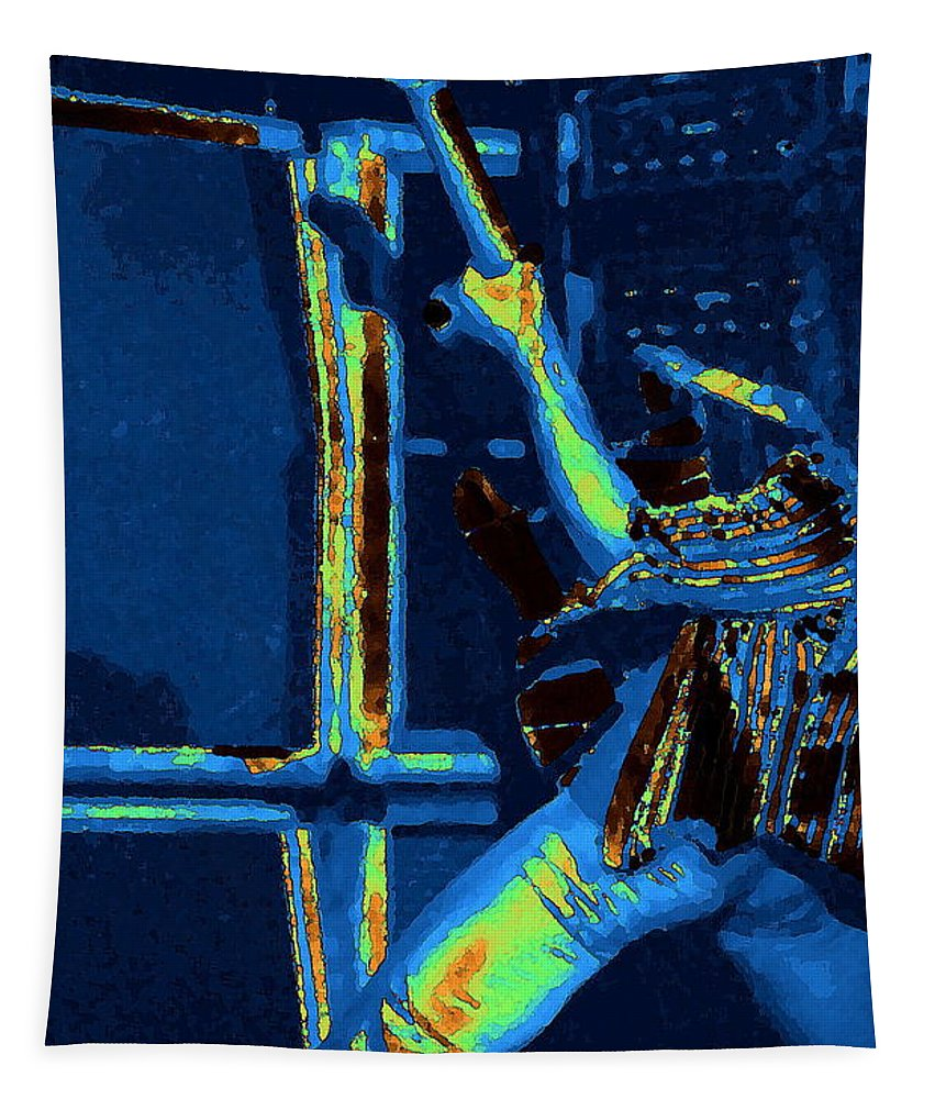 Van Halen Tapestry featuring the photograph Cosmic Feedback by Ben Upham