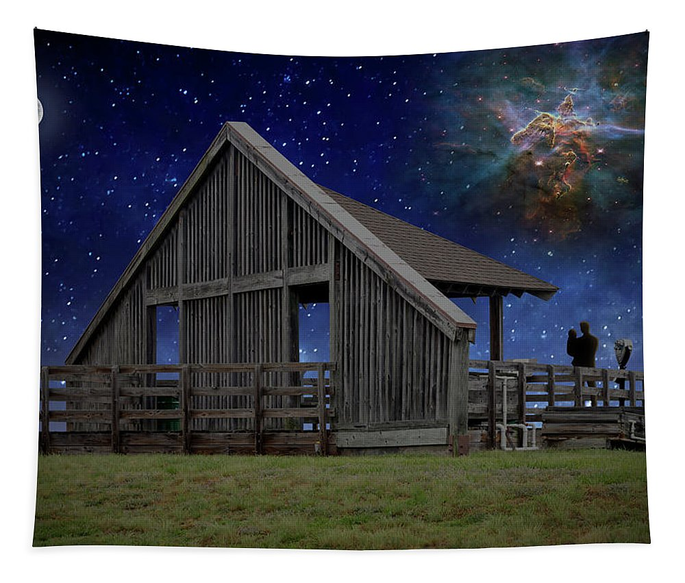 2d Tapestry featuring the photograph Cosmic Observation Deck by Brian Wallace