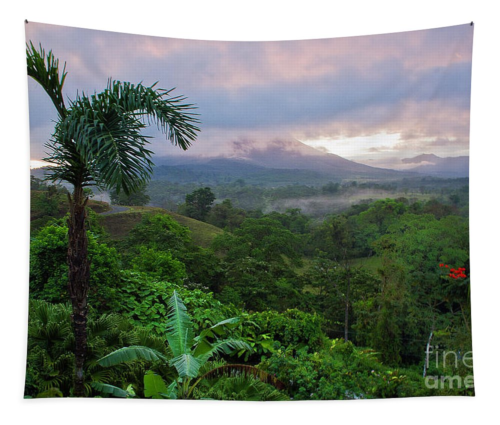 Costa Rica Tapestry featuring the photograph Costa Rica Volcano View by Madeline Ellis