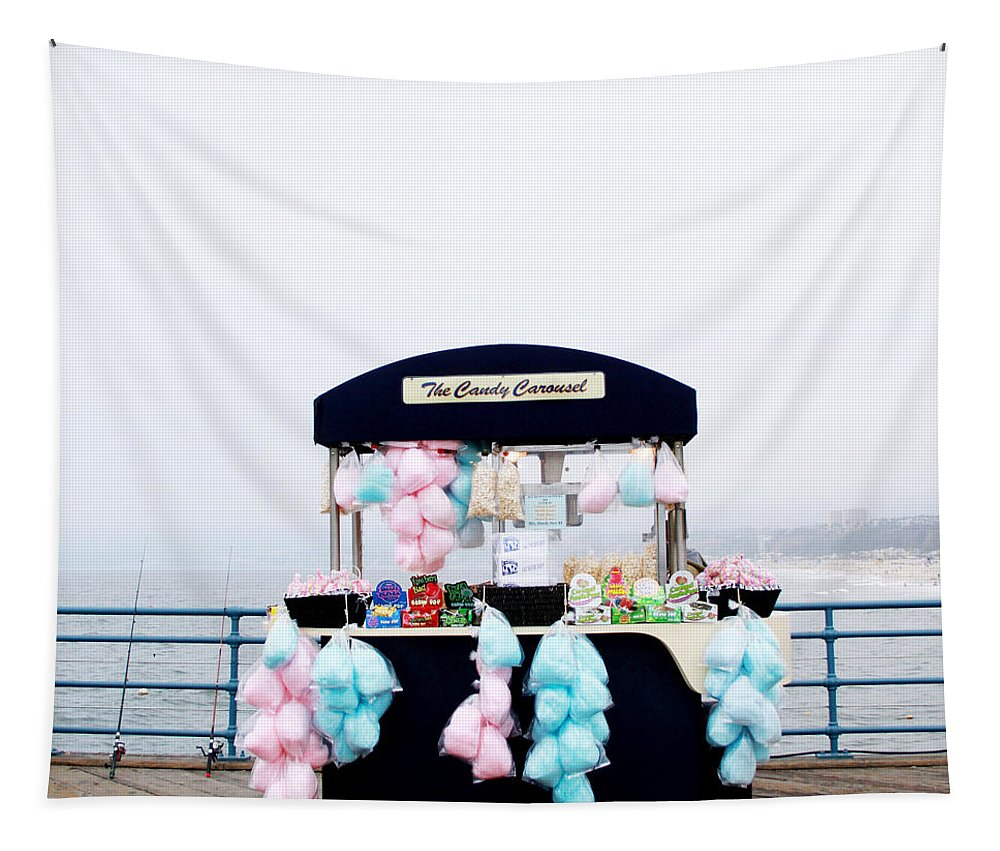 Cotton Candy Tapestry featuring the photograph Cotton Candy Carousel- By Linda Woods by Linda Woods