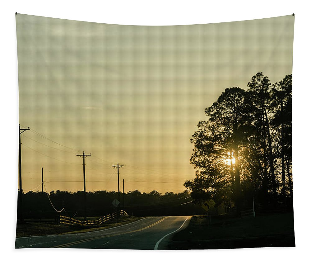 Thomson Tapestry featuring the photograph Countryside Sunset by Andrea Anderegg