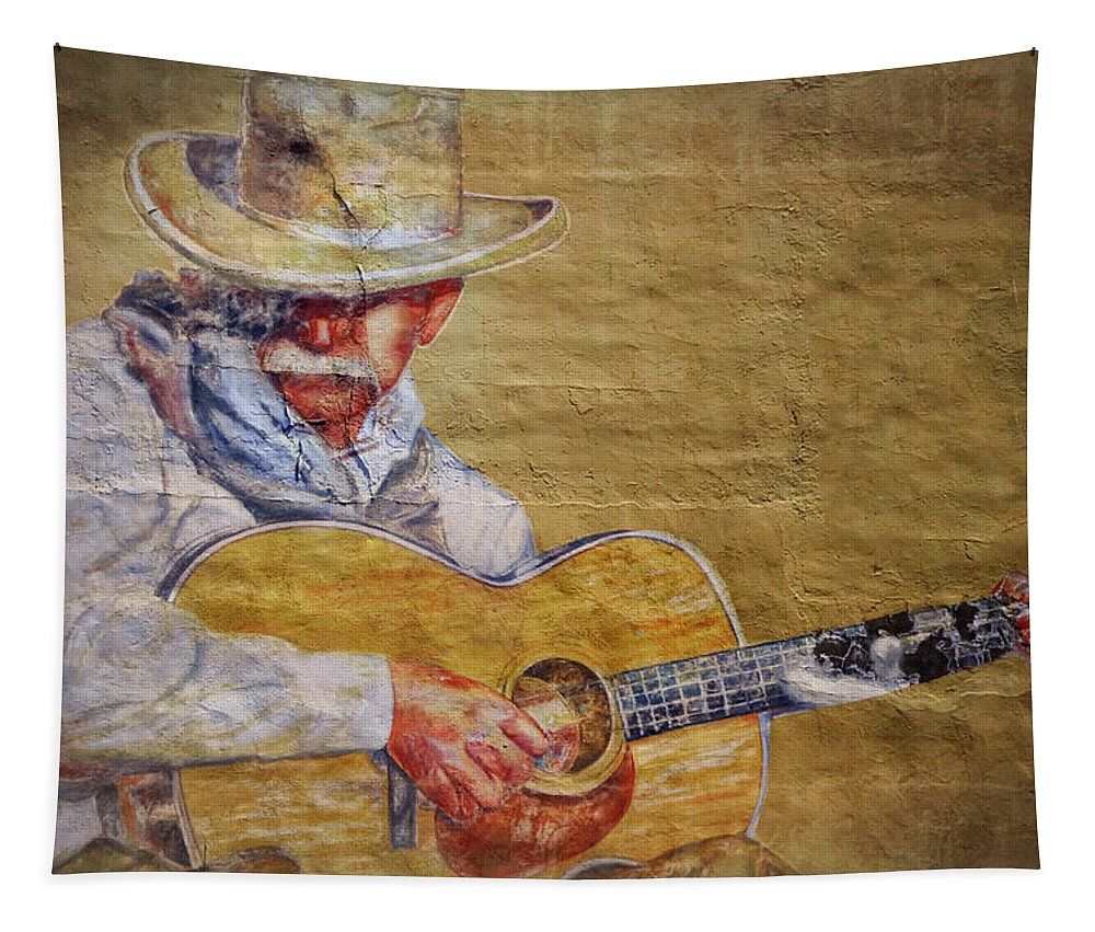 Cowboy Tapestry featuring the photograph Cowboy Poet by Joan Carroll