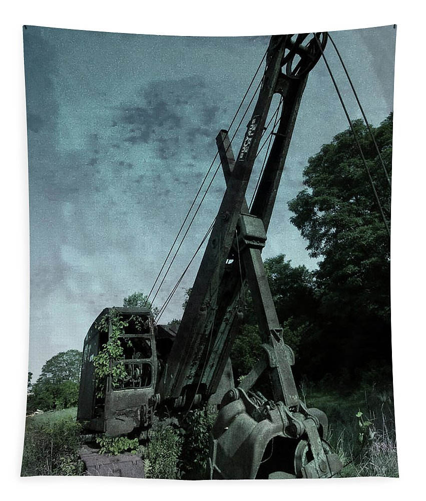 Old Crane Tapestry featuring the photograph Crane by Jerry LoFaro