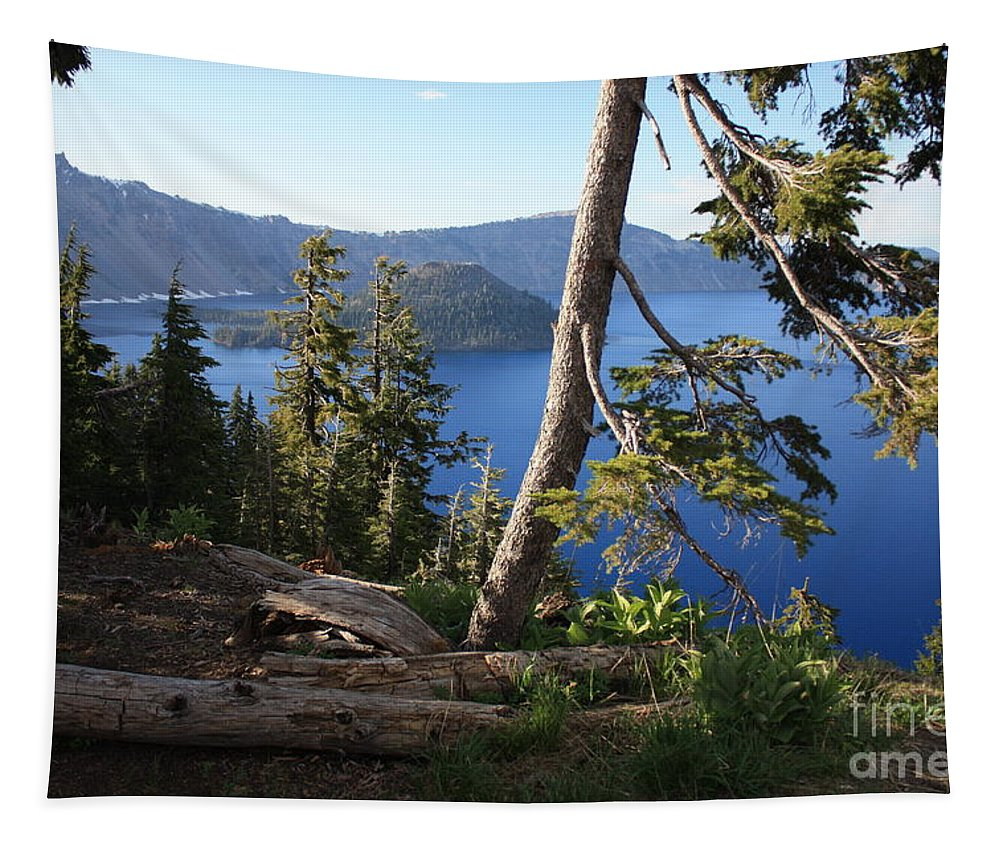 Crater Lake Tapestry featuring the photograph Crater Lake 9 by Carol Groenen