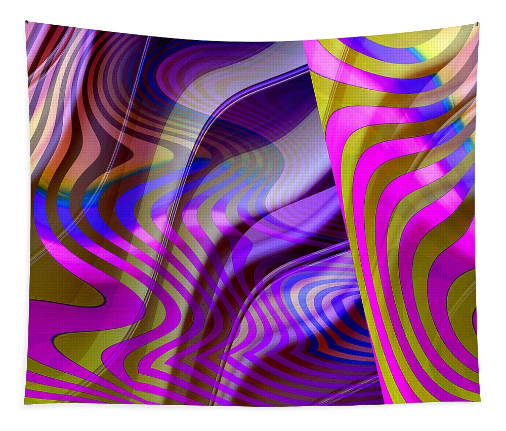 ruth Palmer Tapestry featuring the digital art Crazy Busy by Ruth Palmer