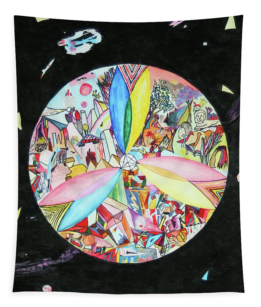Abstract Tapestry featuring the mixed media Creation by Steve Karol