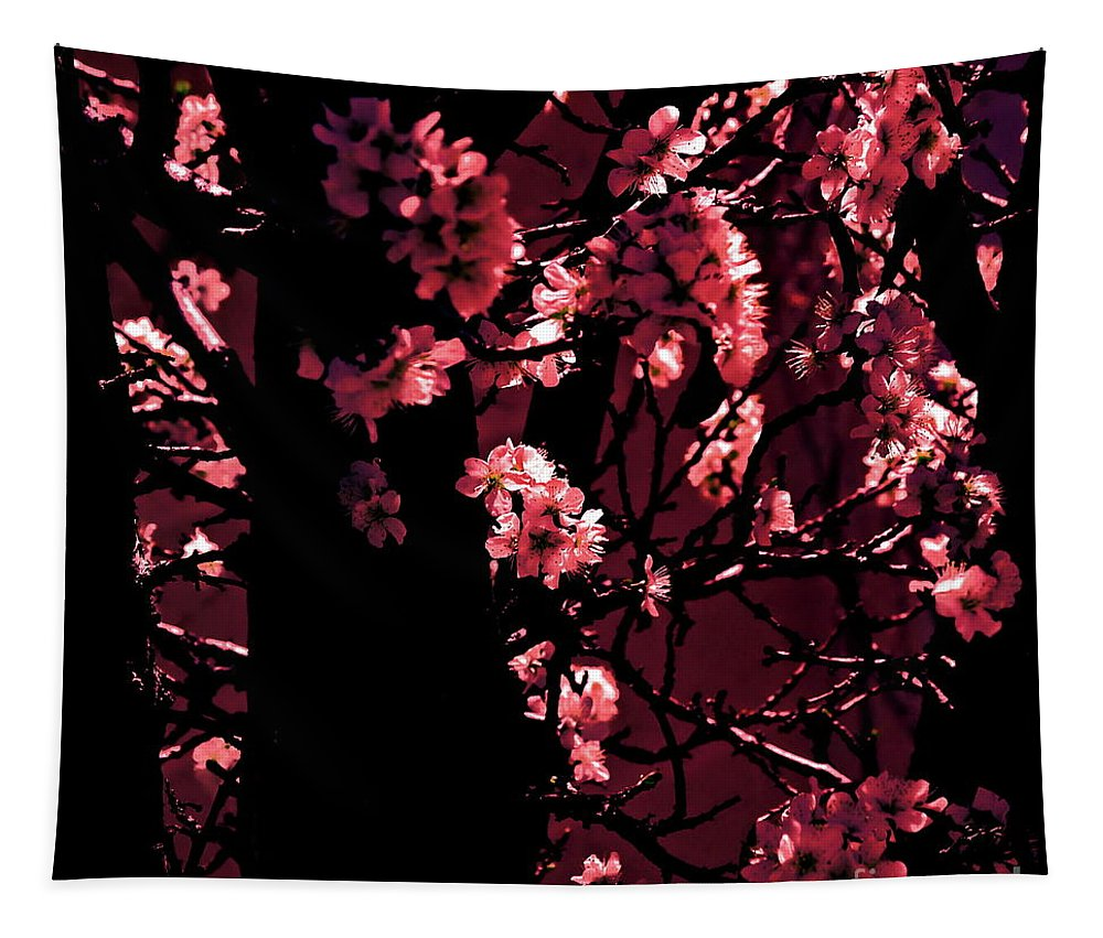 Digital Altered Photo Tapestry featuring the photograph Crimson by Tim Richards