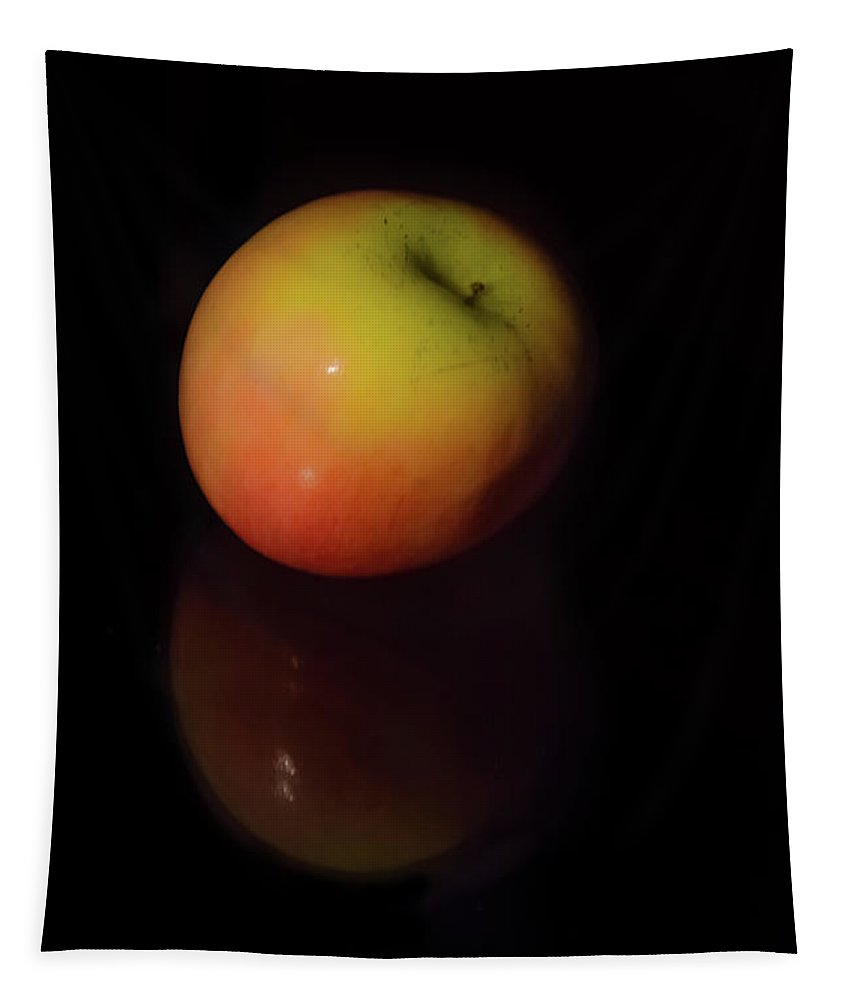 Food Tapestry featuring the photograph Crisp Apple by Pamela Williams