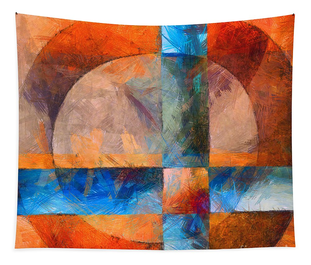 Abstract Tapestry featuring the photograph Cross And Circle Abstract by Edward Fielding