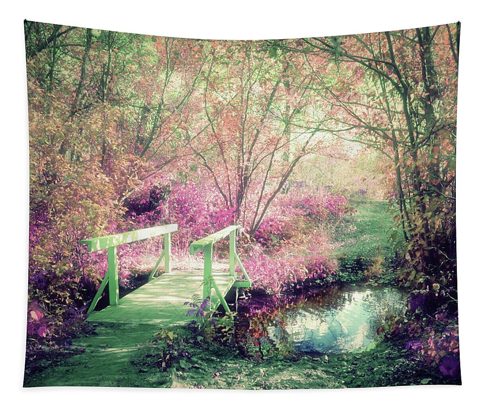 Bridge Tapestry featuring the photograph Cross With Me by Tara Turner