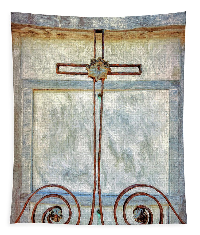 Cross Tapestry featuring the photograph Crosses Voided - Artistic by Kathleen K Parker