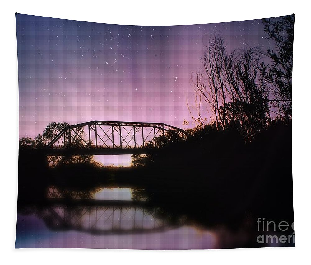 Bridge Tapestry featuring the photograph Crossing Over by Jenny Revitz Soper