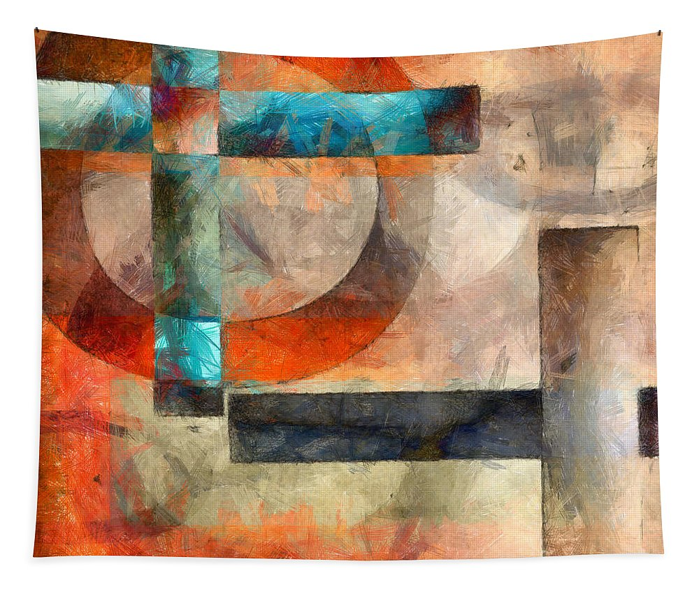 Crossroads Tapestry featuring the photograph Crossroads Abstract by Edward Fielding