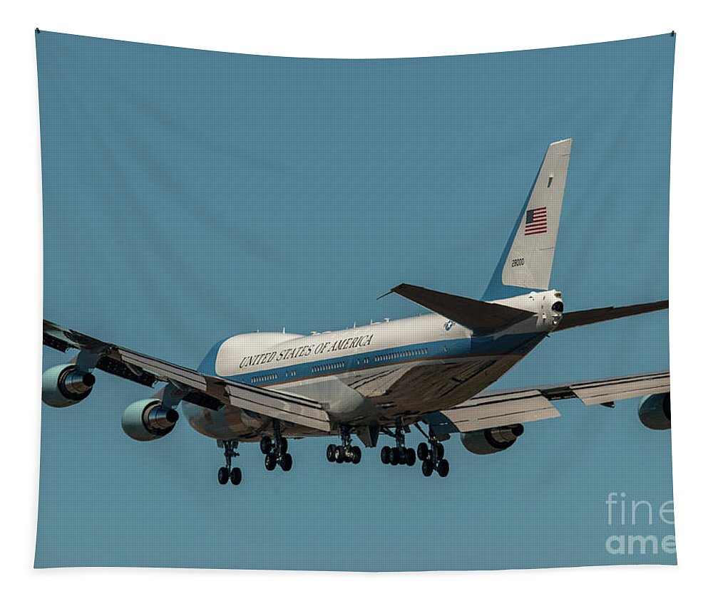 Air Force One Tapestry featuring the photograph Crosswind by Dale Powell
