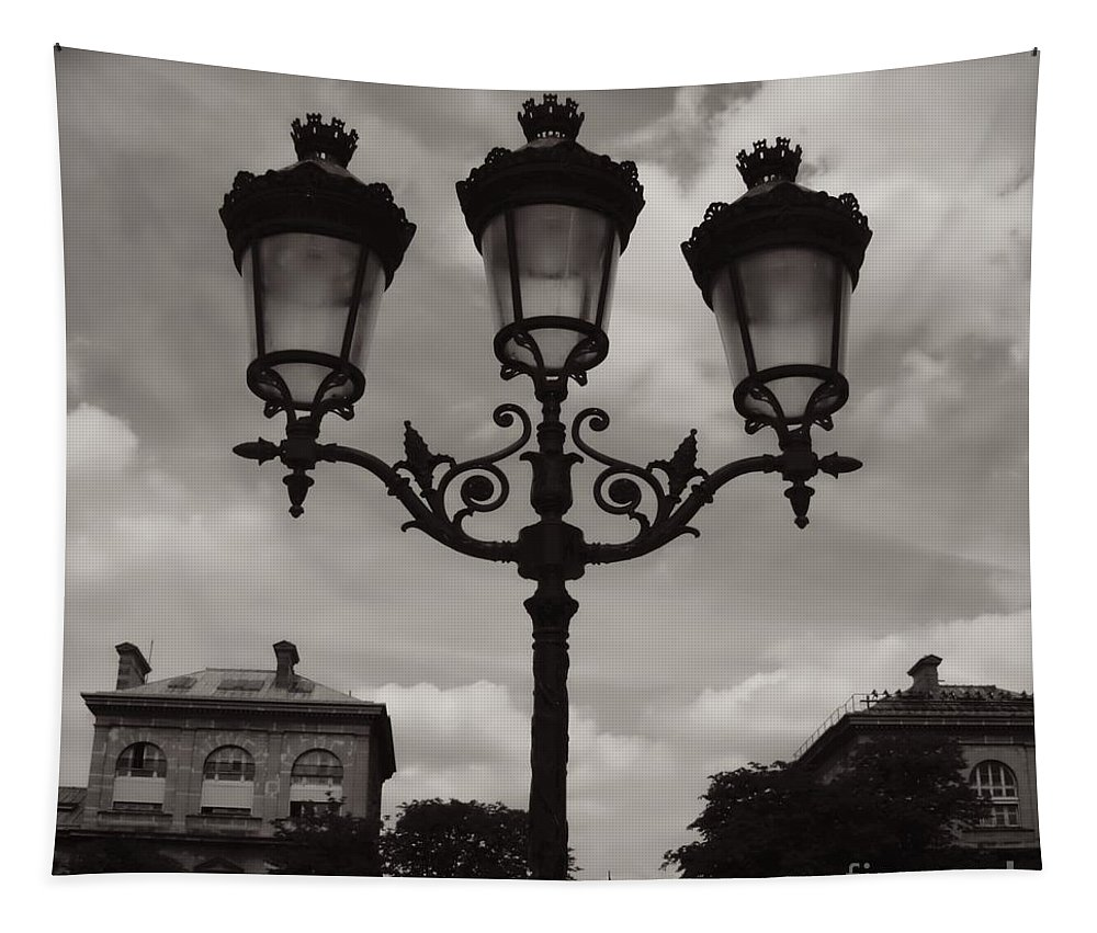 Paris Luminaires Tapestry featuring the photograph Crowned Luminaires In Paris by Carol Groenen