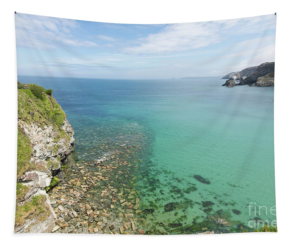 St Agnes Tapestry featuring the photograph Crystal Clear Sea by Terri Waters