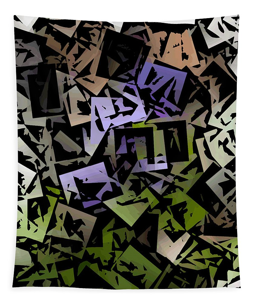 Cubism Tapestry featuring the digital art Cubic Violet by David Lane
