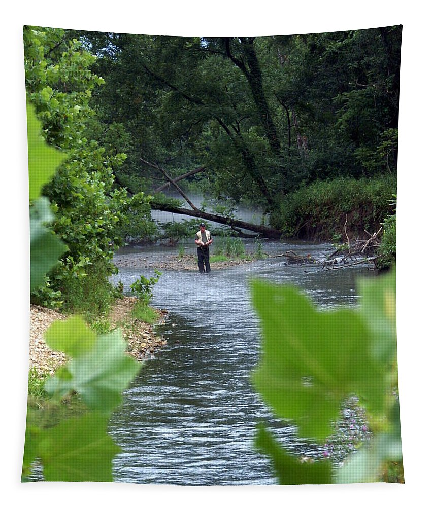 Current River Tapestry featuring the photograph Current River 5 by Marty Koch