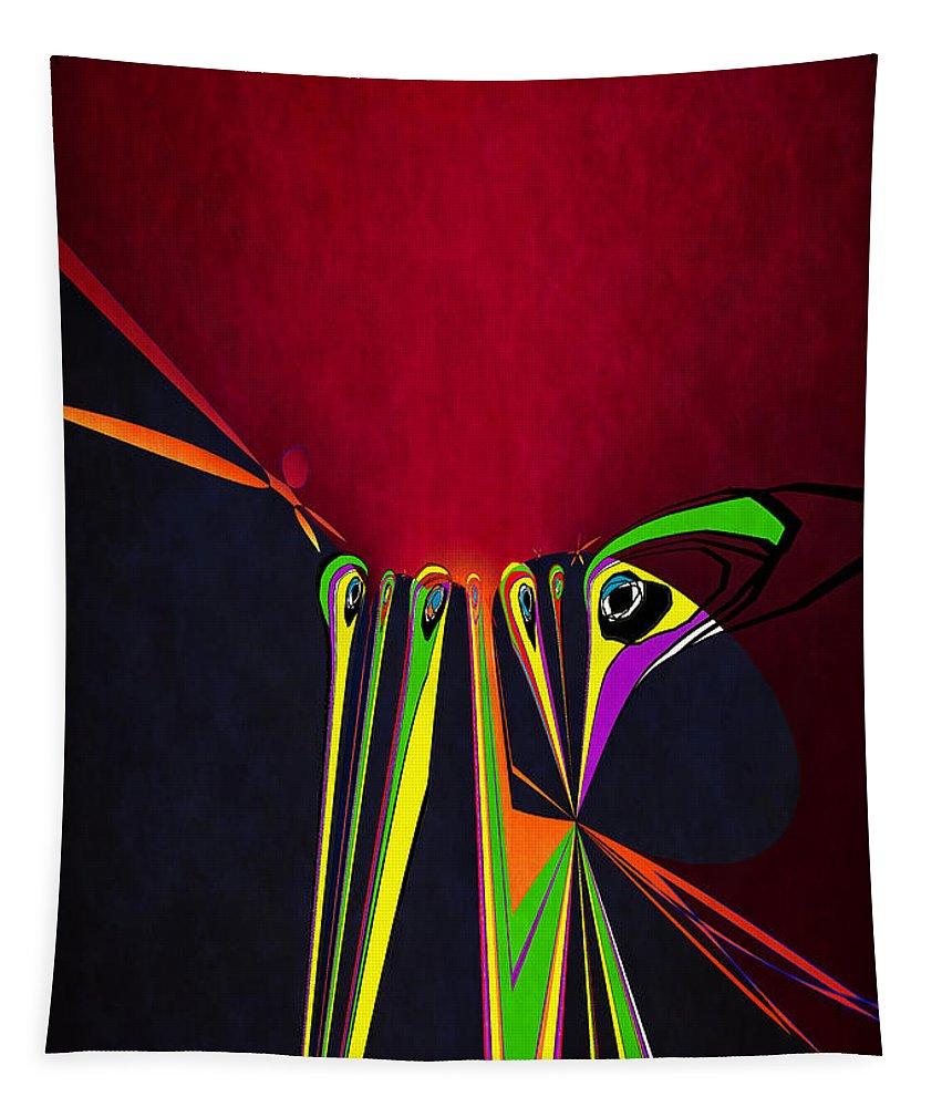 Digital Art Tapestry featuring the digital art Cut It Out by Pennie McCracken
