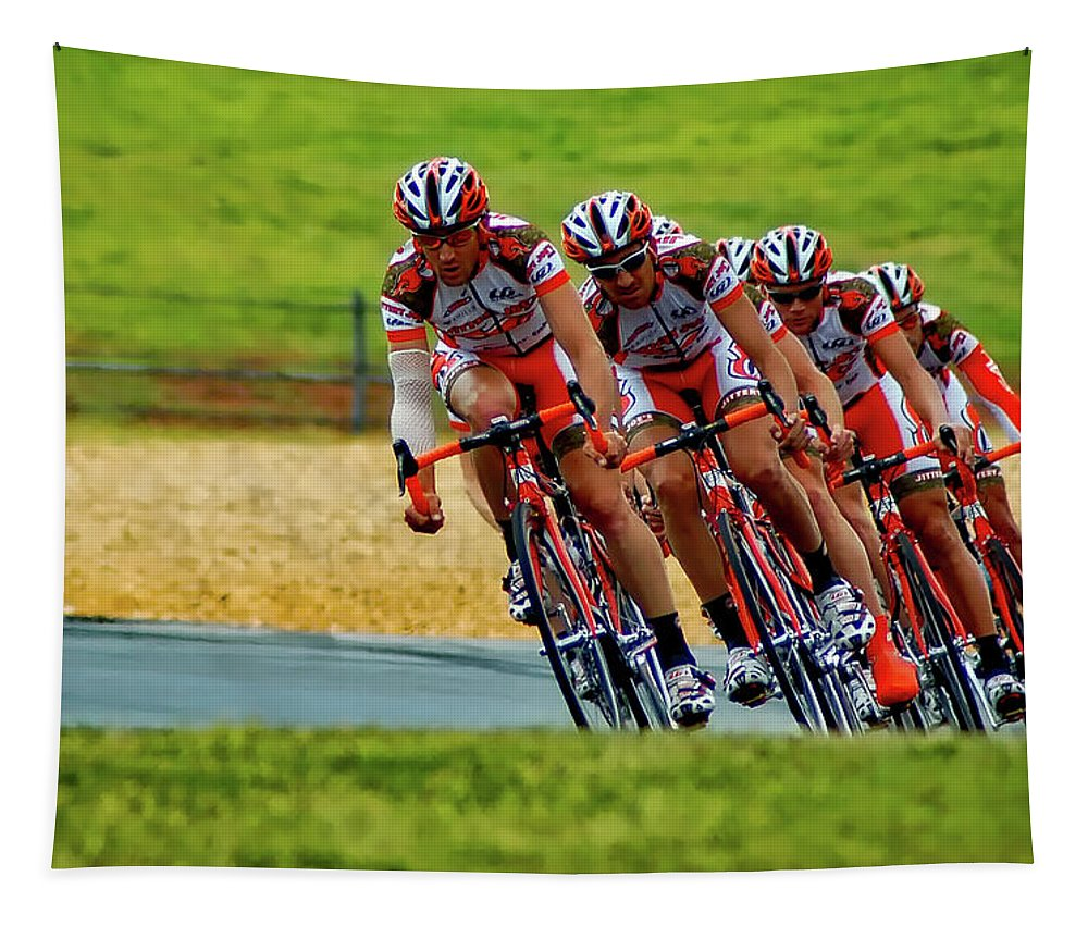 Cycling Tapestry featuring the photograph Cycling Practice by James Thomas
