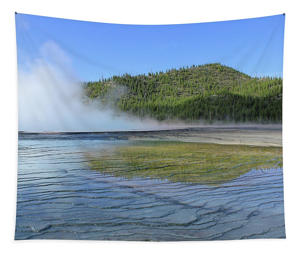 Reflection Tapestry featuring the photograph D09127 Reflection In Grand Prismatic Spring by Ed Cooper Photography