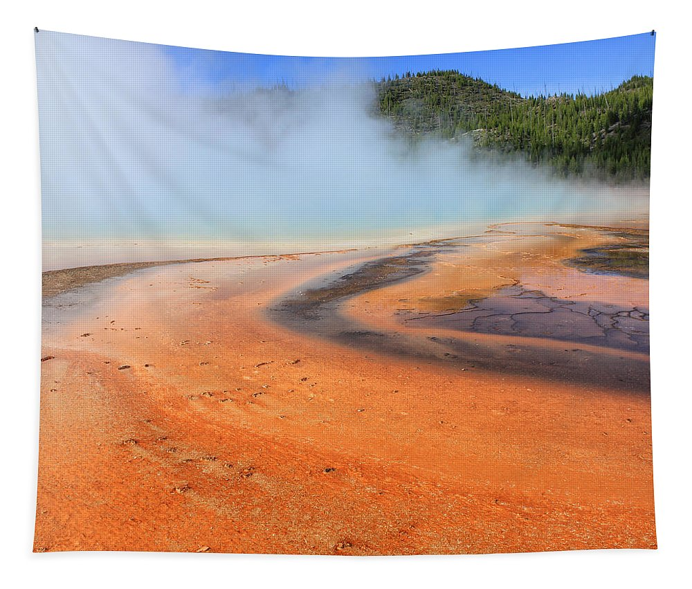 Colors Tapestry featuring the photograph D09132 Colorful Grand Prismatic Spring by Ed Cooper Photography