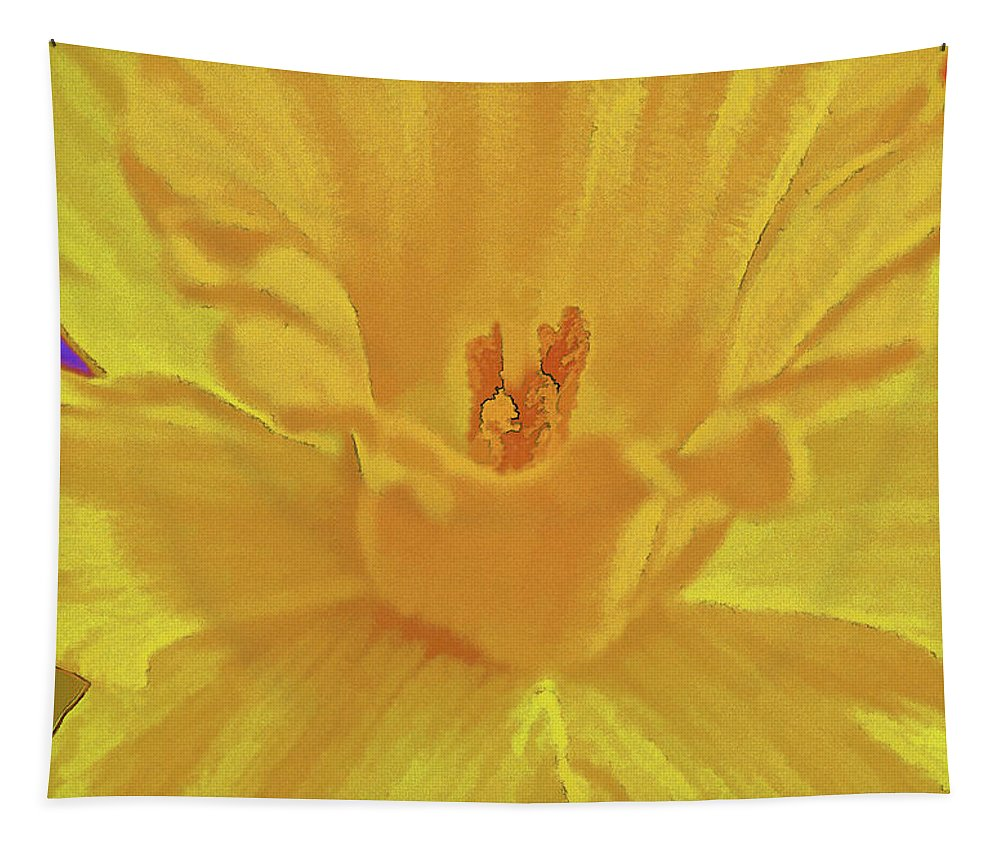 Flower Tapestry featuring the photograph Daffodil In Spring by Charles Muhle
