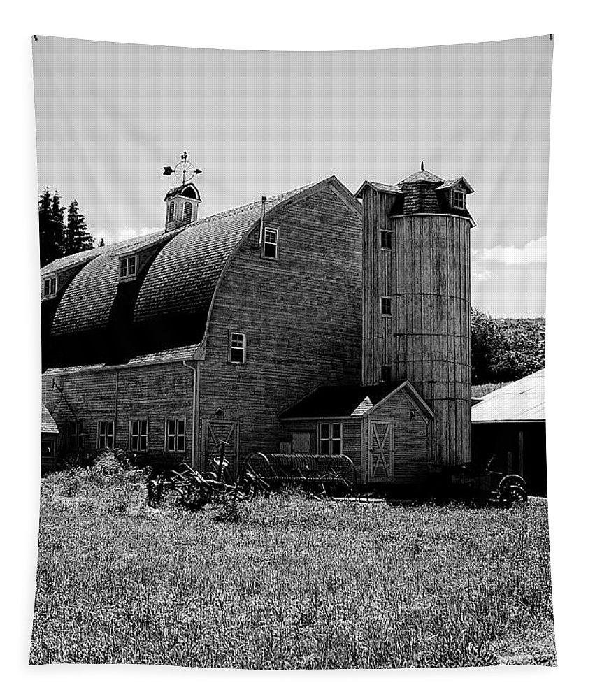 Dahmen Barn Tapestry featuring the photograph Dahmen Barn by David Patterson