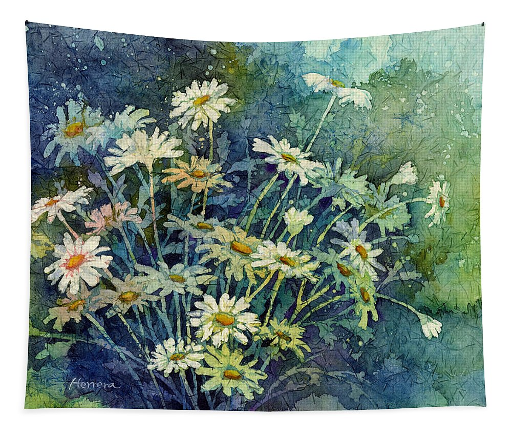 Daisy Tapestry featuring the painting Daisy Bouquet by Hailey E Herrera