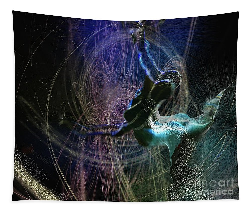 Nature Painting Tapestry featuring the painting Dance Of The Universe by Miki De Goodaboom