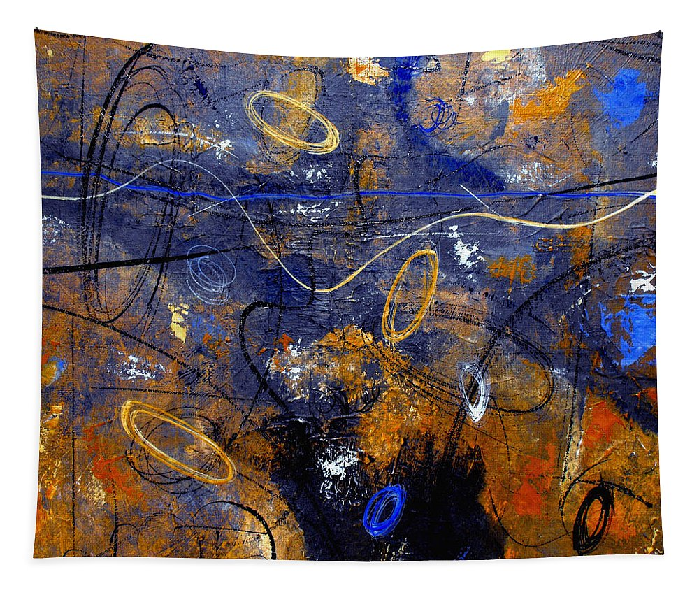 Abstract Tapestry featuring the painting Dance The Night Away by Ruth Palmer