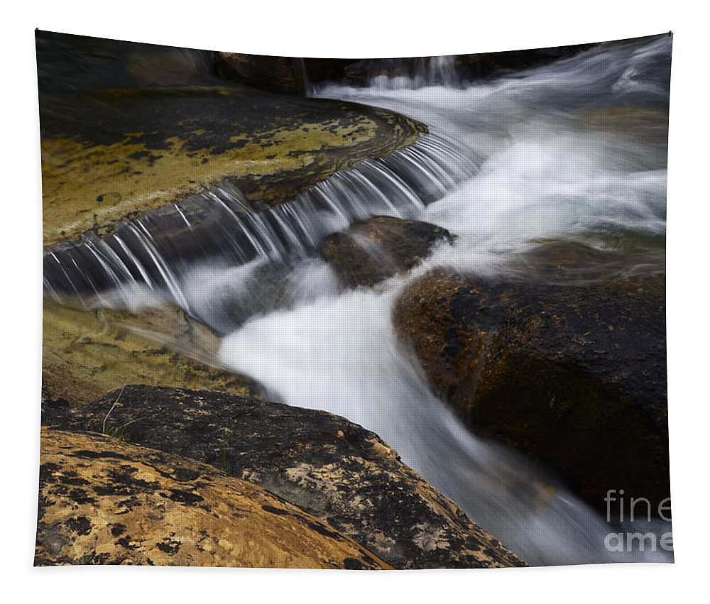 Water Tapestry featuring the photograph Dancing Waters 6 by Bob Christopher