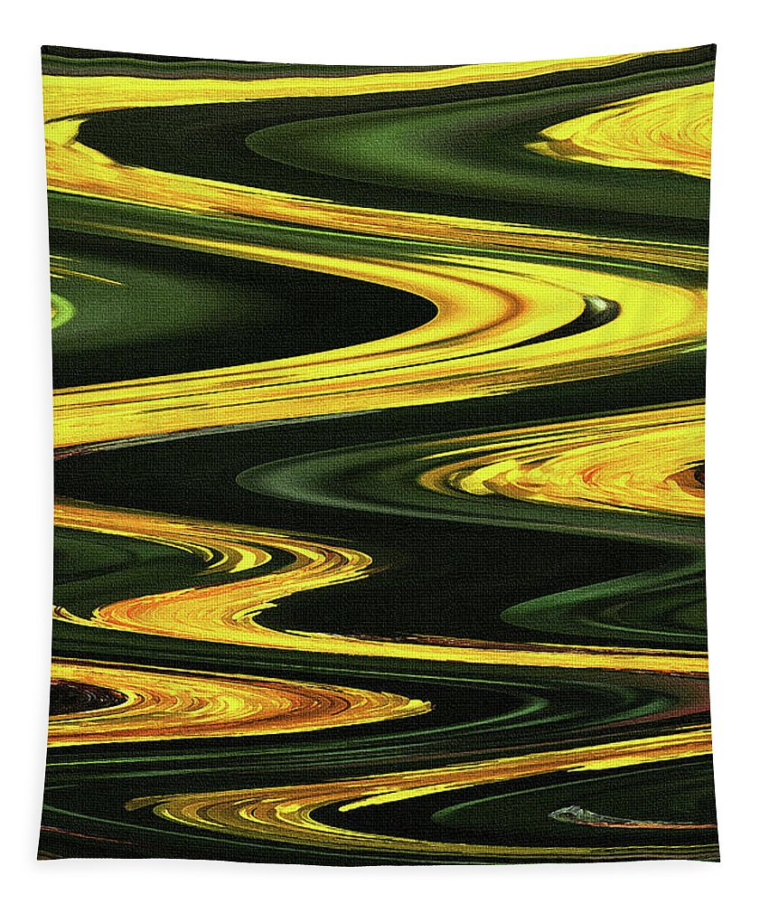 Dandelion Abstract Tapestry featuring the photograph Dandelion Abstract by Tom Janca