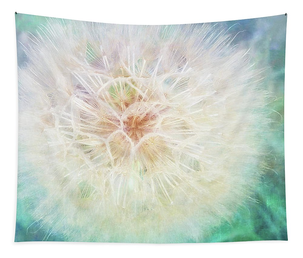 Photography Tapestry featuring the digital art Dandelion In Winter by Terry Davis
