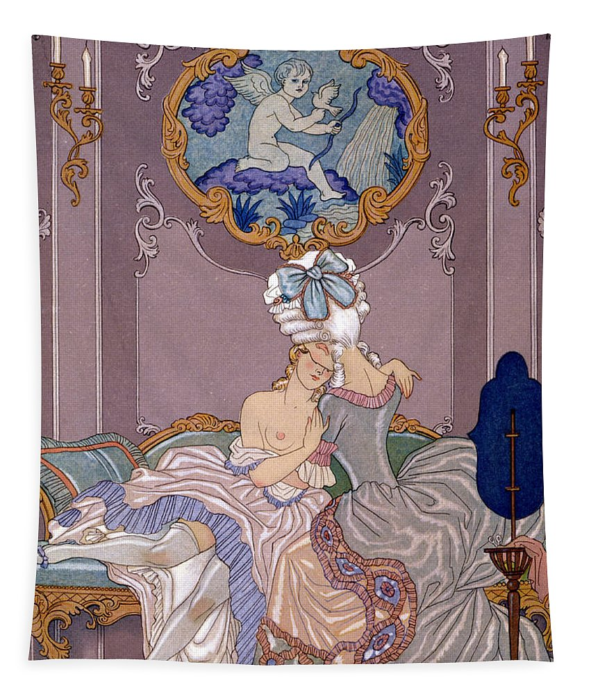 Barbier Tapestry featuring the painting Dangerous Liaisons by Georges Barbier