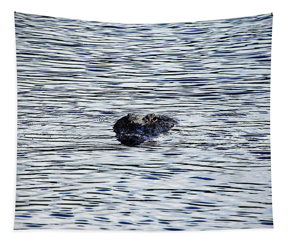 Reptile Tapestry featuring the photograph Dangerous Waters by Debbie Oppermann