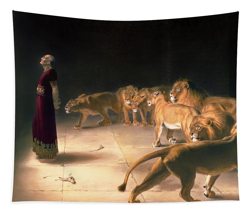 Painting Tapestry featuring the painting Daniel's Answer To The King by Mountain Dreams