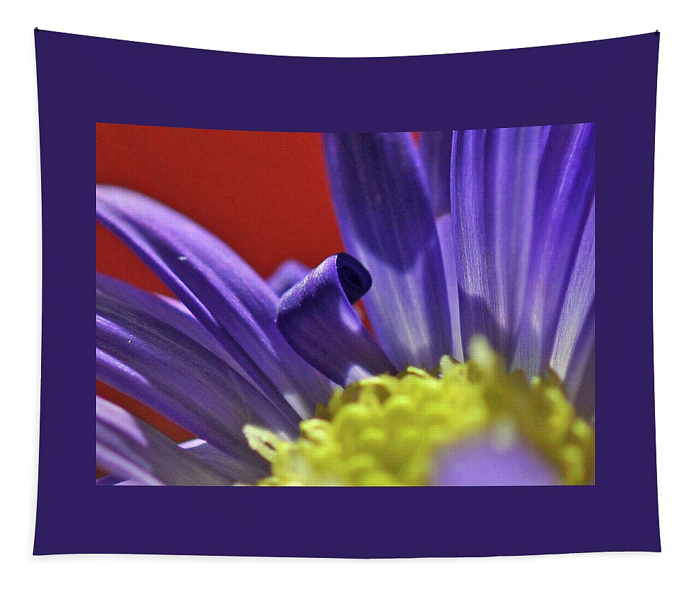 Blue Flower Tapestry featuring the photograph Dare To Be Different by Barbara Treaster